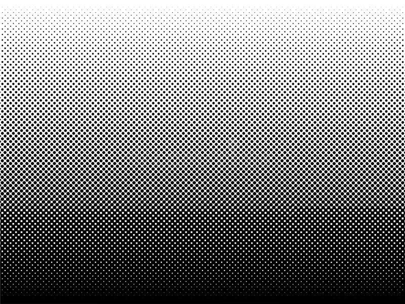 被加点的梯度传染媒介例证,白色和黑半音ba 库存例证