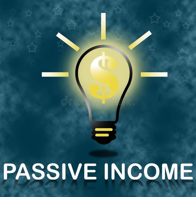 被动收入企业概念 皇族释放例证