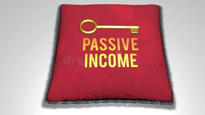 被动收入概念 库存例证