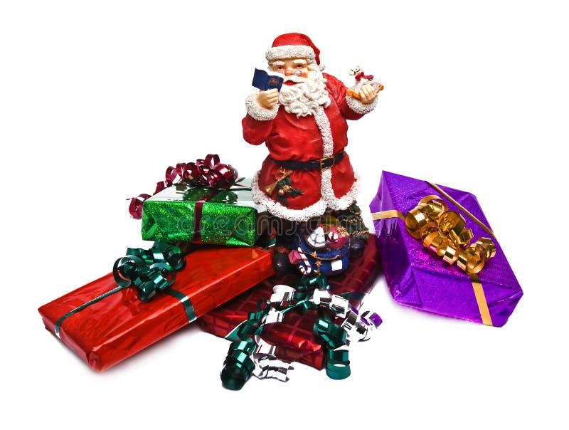 被包裹的圣诞节礼品 免版税图库摄影