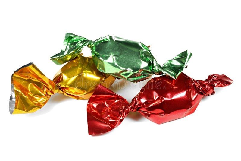 被包裹的糖果 免版税库存图片