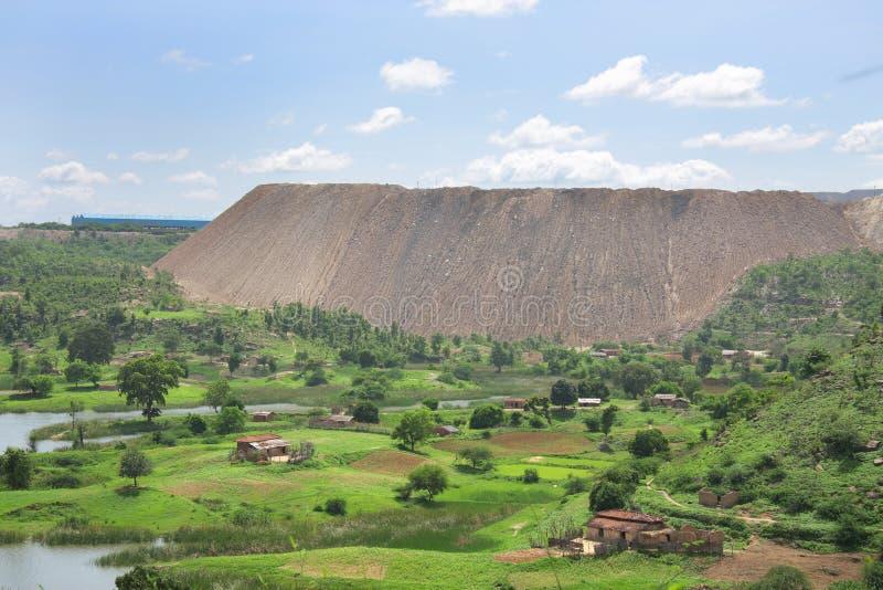 被去除的被形成的小山最小值过重的&# 图库摄影