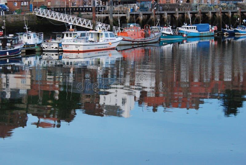 被反映的港口 免版税库存图片