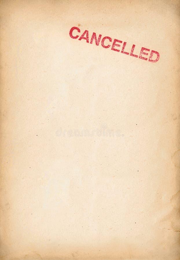 被取消的页 免版税库存照片