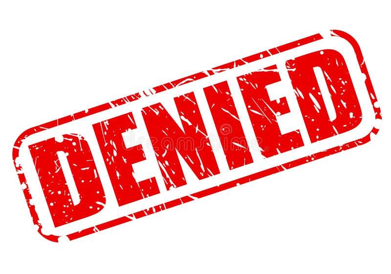 被否认的红色邮票文本 皇族释放例证