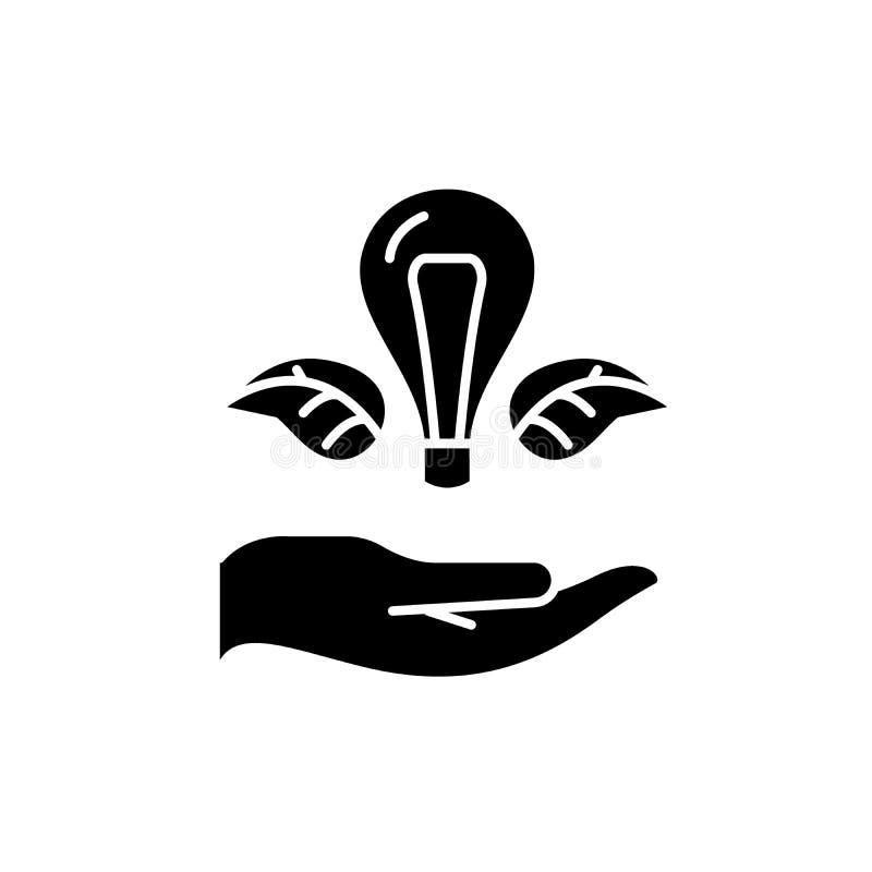 被启发的天生黑象,在被隔绝的背景的传染媒介标志 被启发的天生概念标志,例证 库存例证