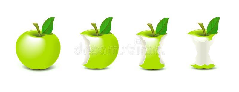 被咬住的苹果 库存例证