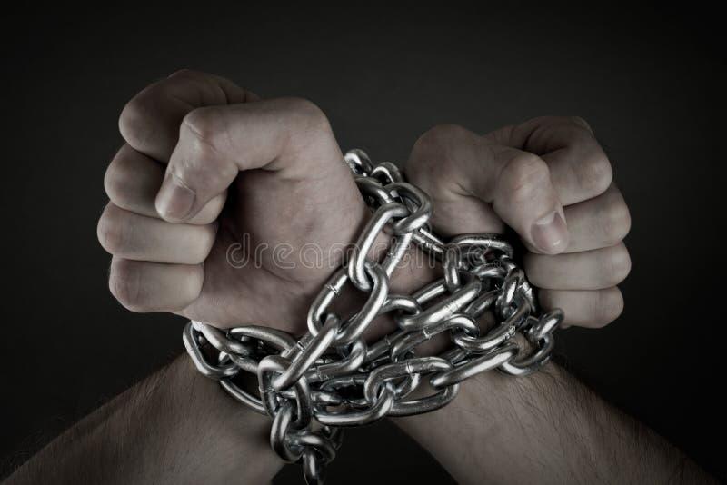 被囚禁的手 免版税库存图片