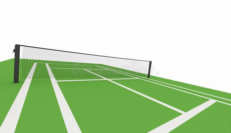 被回报的绿色网球场 库存例证