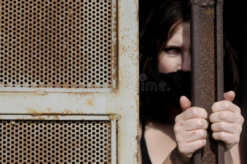 被困住的妇女 免版税库存照片