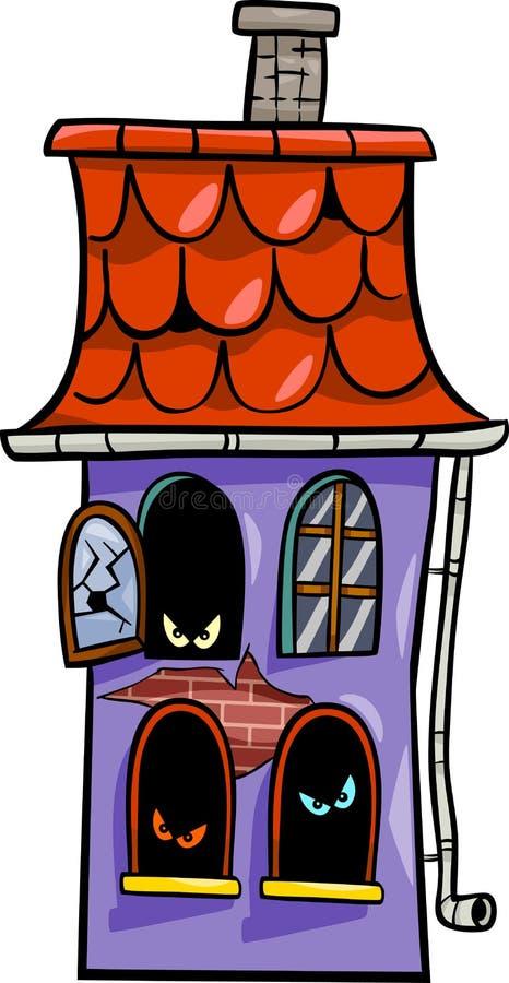 被困扰的房子动画片例证 库存例证