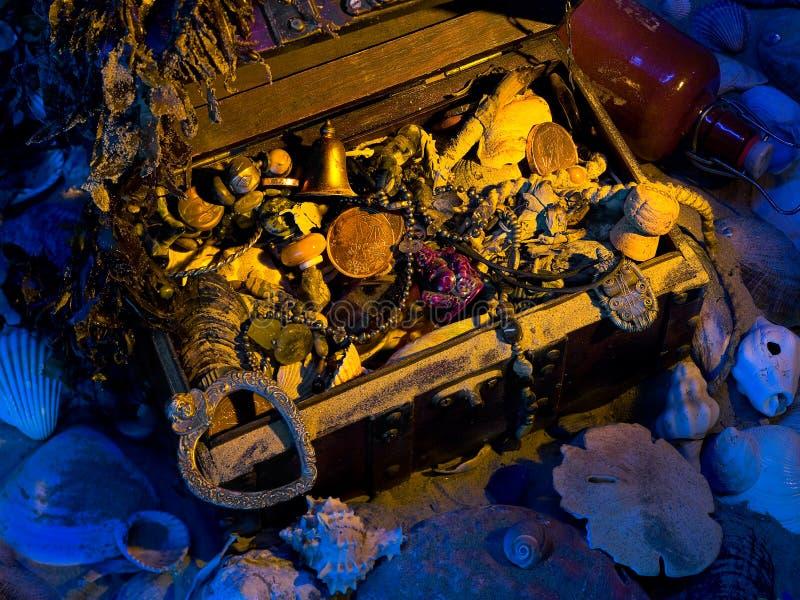 被埋没的海运tresure 免版税库存照片