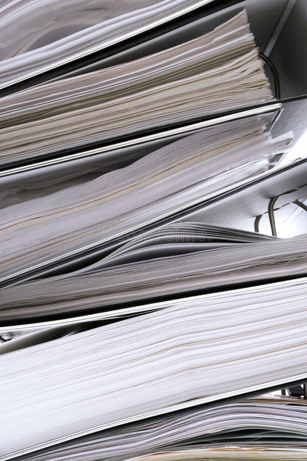 被堆积的抽象文件夹 免版税图库摄影