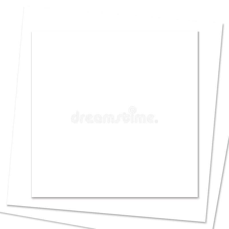 被堆积的方形的白皮书框架 皇族释放例证