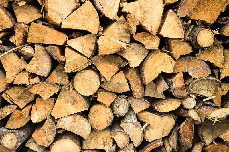 被堆积的木柴 图库摄影