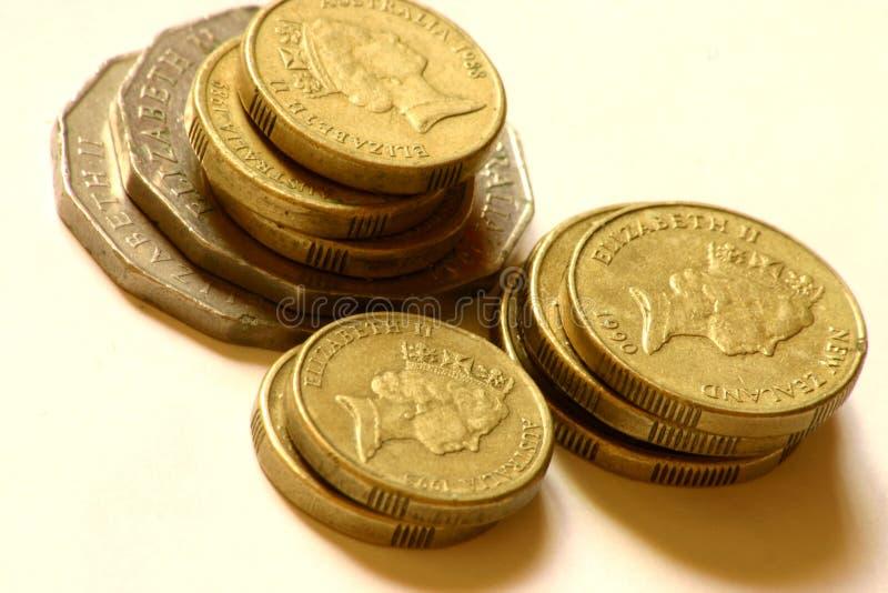 被堆积的硬币 库存图片