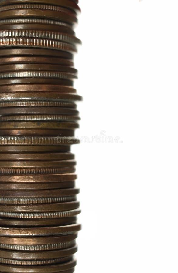 被堆积的硬币 免版税图库摄影