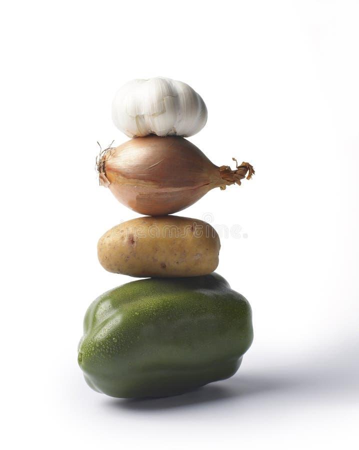 被堆积的蔬菜 免版税图库摄影