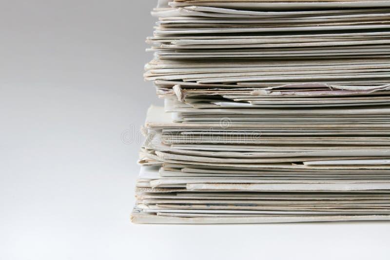 被堆积的邮件 免版税库存图片