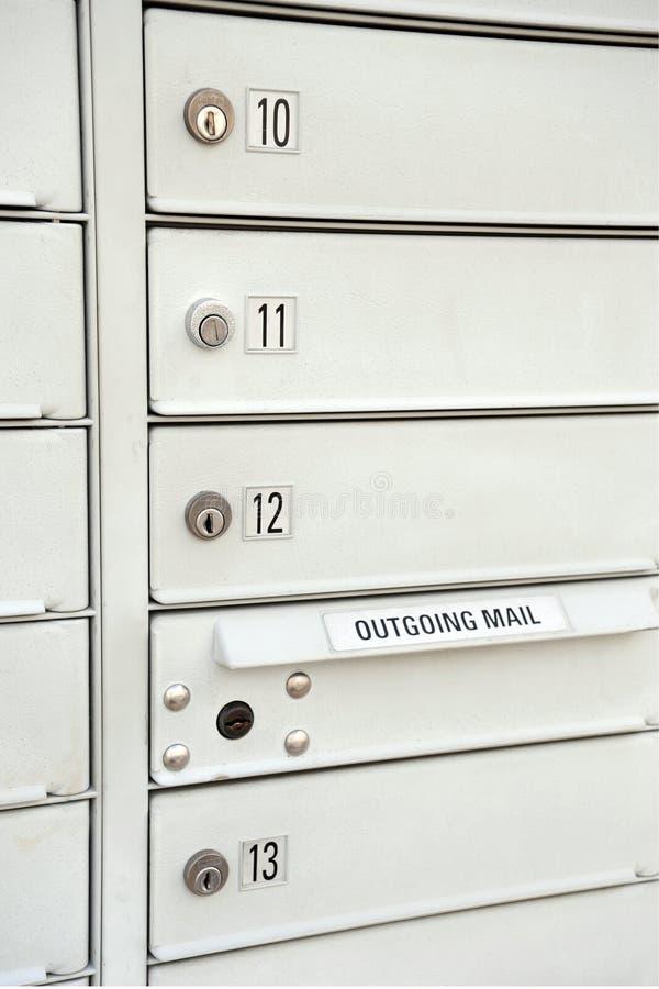 被堆积的邮箱 库存照片