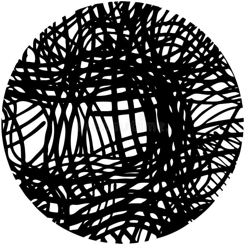 被塑造的乱画抽象手拉的样式圈子 皇族释放例证