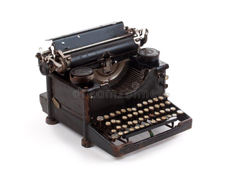 被塑造的老打字机 库存图片
