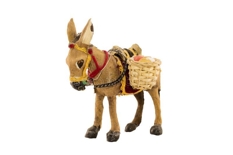 被备鞍的驴 库存照片