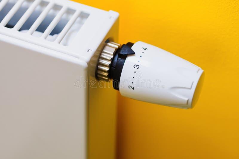 被定调子的蓝色幅射器温箱 免版税库存图片