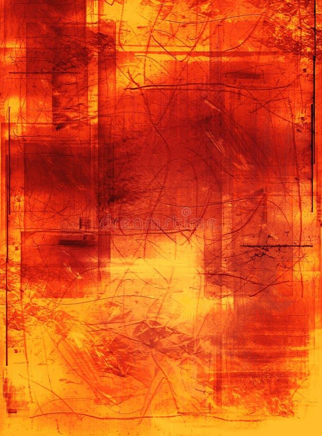 被定调子的grunge绘画 向量例证