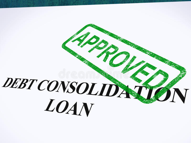 被审批的债务合并贷款 向量例证