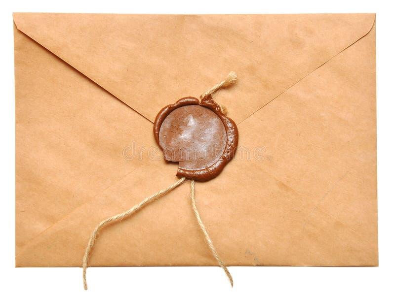 被密封的信包 库存照片