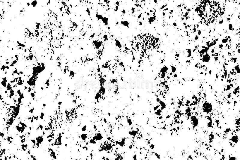 被察觉的老混凝土墙 土气石沙粒纹理 黑污点和噪声困厄的作用的 向量例证