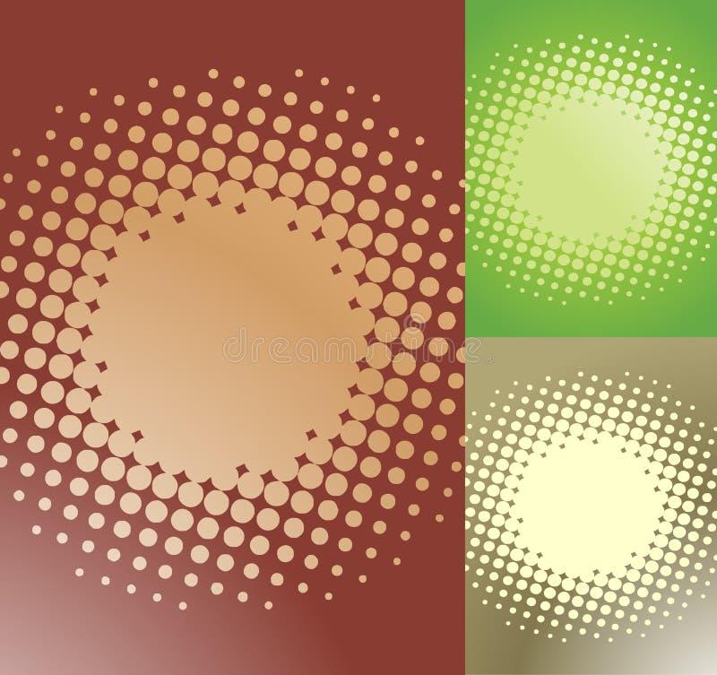 被察觉的闪光 向量例证