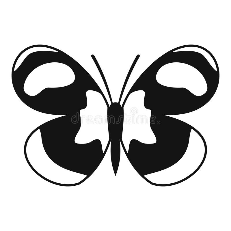 被察觉的蝴蝶象,简单的样式 库存例证