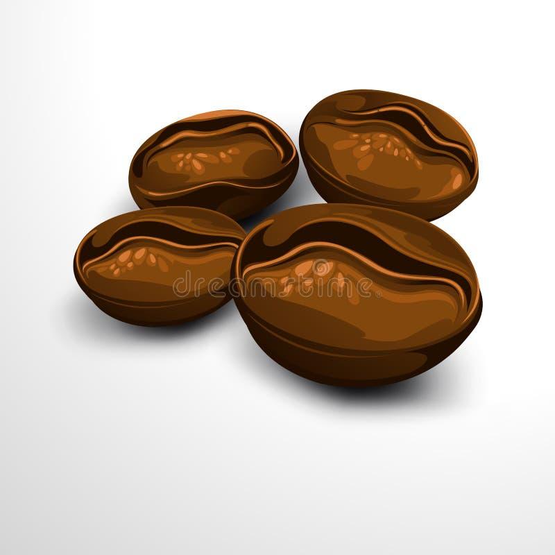 被射击的豆接近的咖啡 向量例证