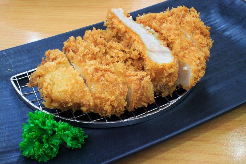 被射击的日本食物猪肉 免版税库存图片