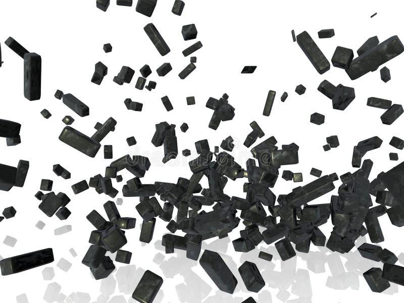 被展开的金属结构 库存例证