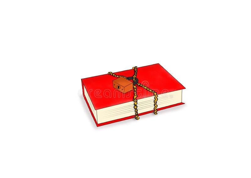 被巩固的书 皇族释放例证