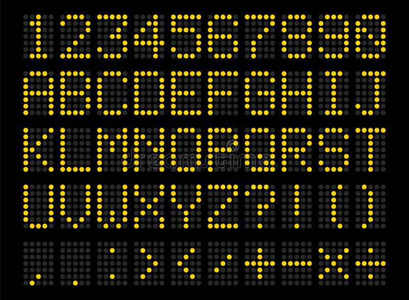 被带领的数字式字母表 皇族释放例证