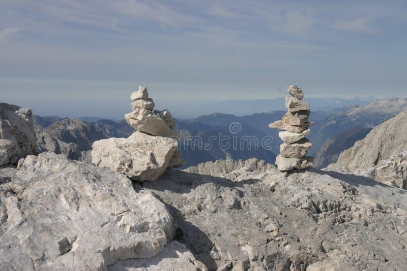被建造的石塔是 免版税图库摄影