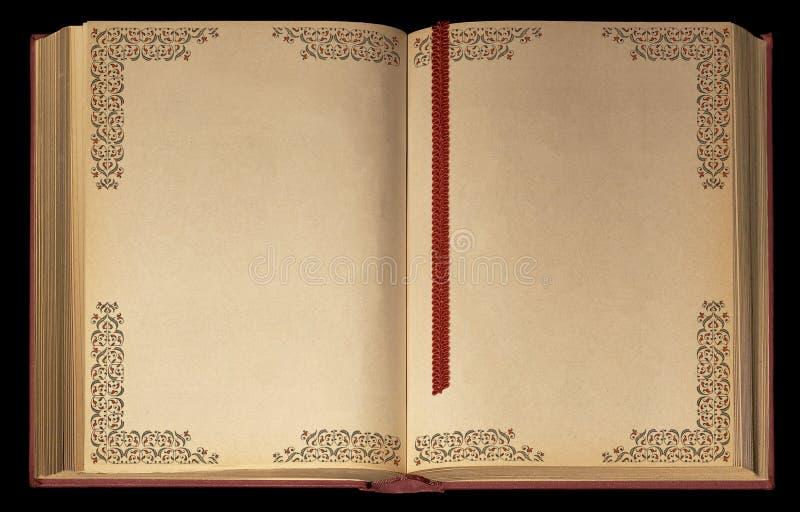 被开张的书老 免版税库存图片
