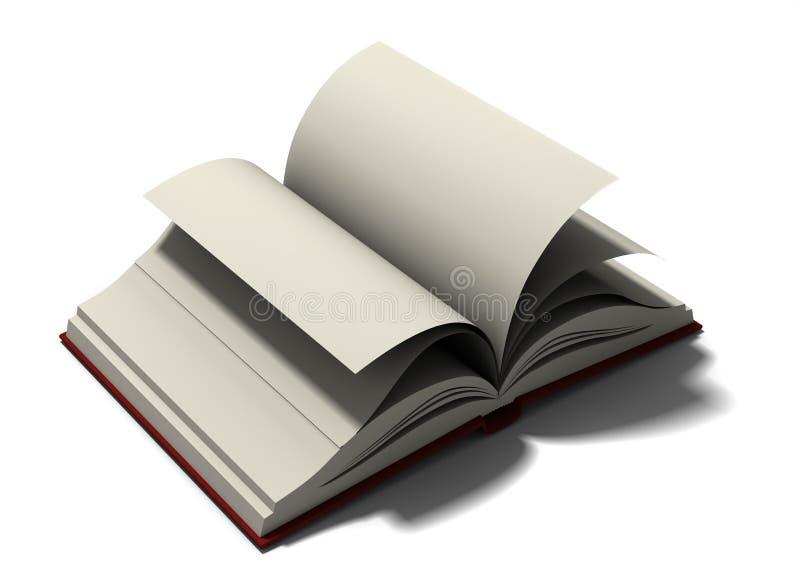 被开张的书 向量例证