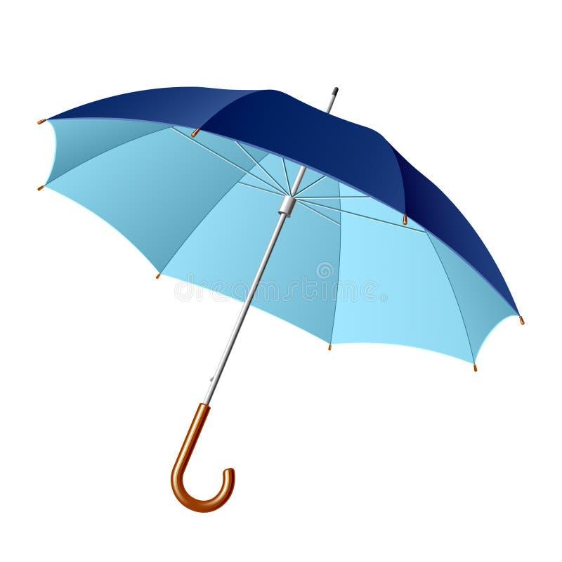 被开张的伞 向量例证