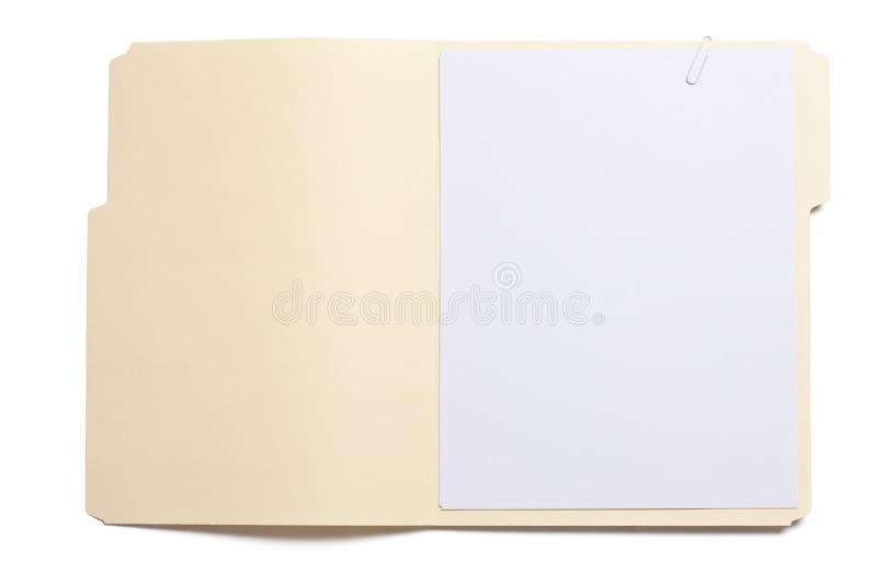 被开张的文件夹 免版税库存图片