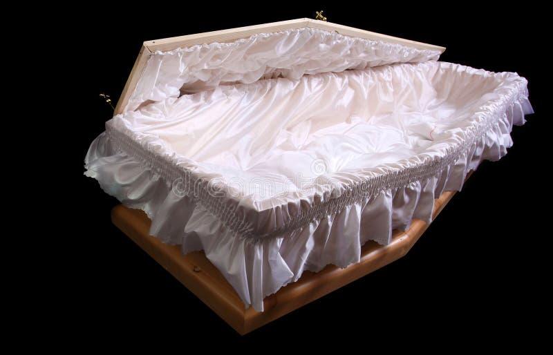 被开张的棺材 免版税库存图片