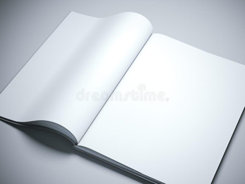 被开张的空白书呼叫白色 3d翻译 皇族释放例证