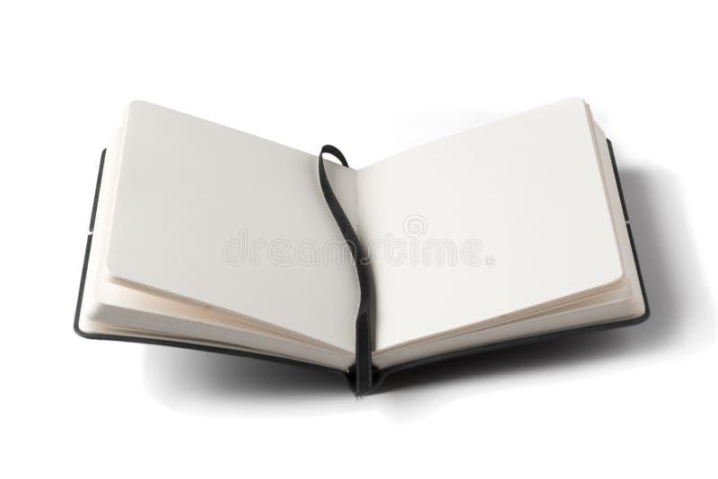 被开张的笔记本 库存照片