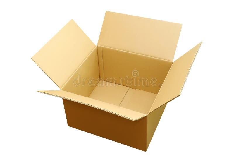 被开张的配件箱俯视 免版税库存照片
