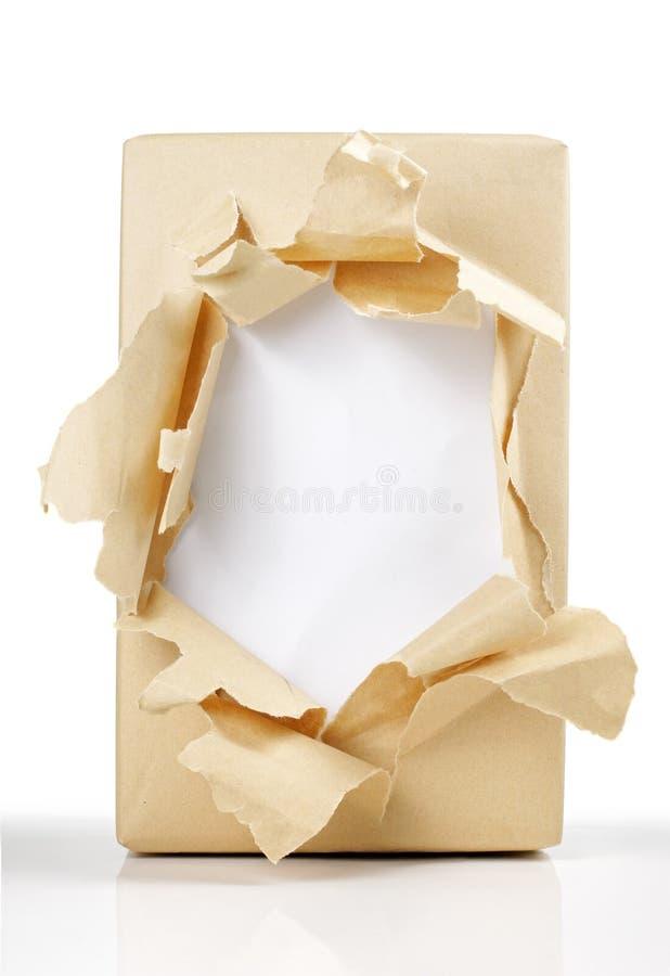 被开张的配件箱 库存照片