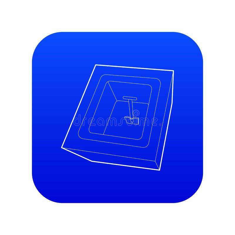 被开掘的严重象蓝色传染媒介 库存例证